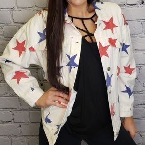 Simply Obsessed New medium star denim jacket
